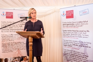 Julie Etchingham at World Homeless Day
