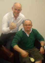 Barry McGuigan with Anchor House resident