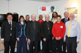 Bishops with staff and residents