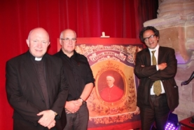 Left to right: Mgr John Armitage, Kevin Flanagan, Lord Glasman