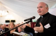 Monsignor John Armitage speaking at World Homeless Day