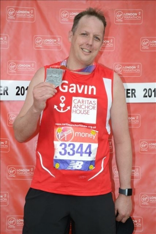 Gavin with his London Marathon medal