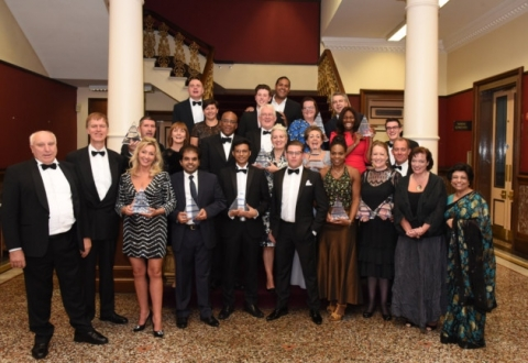 Staff pictured at awards ceremony