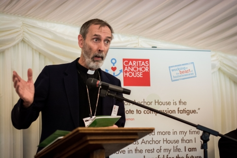 bishop of brentwood speaking at event