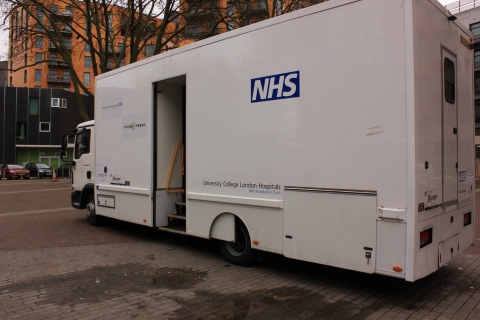 NHS mobile van outside