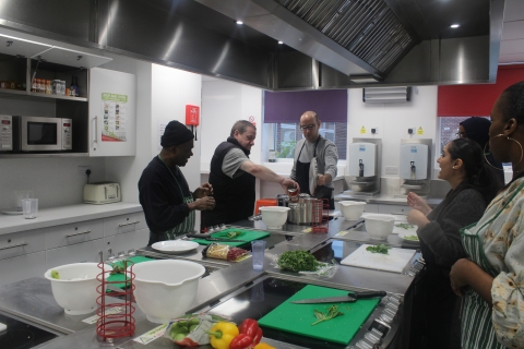 Cooking class at Caritas Anchor House