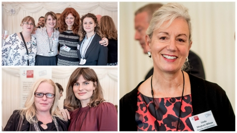 collage of women at the international womens day reception