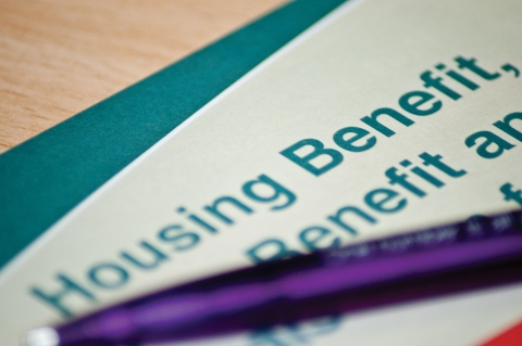 Housing benefit form