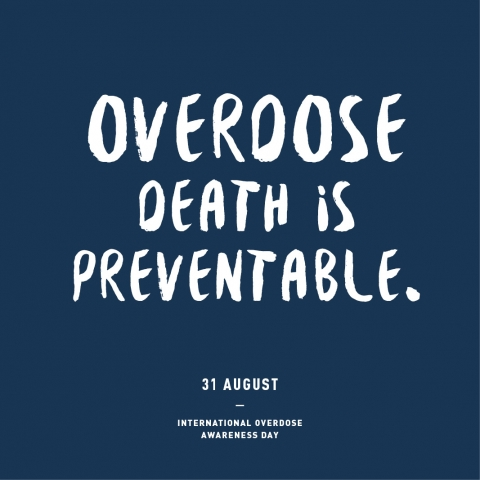 International Overdose Awareness Day poster