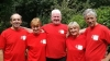 Photo of the Annapurna team. Left to right: Graham, Eleanor, Keith, Lila and Ken