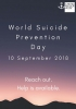 Poster for World Suicide Prevention Day